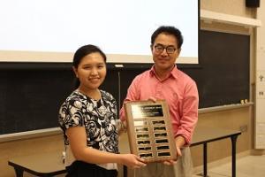 Monika Lavan being awarded the 2017 Herbert Lieberman Award