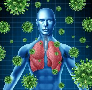 Visualization of microbes in lungs