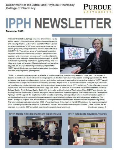 cover of December 2019 newsletter
