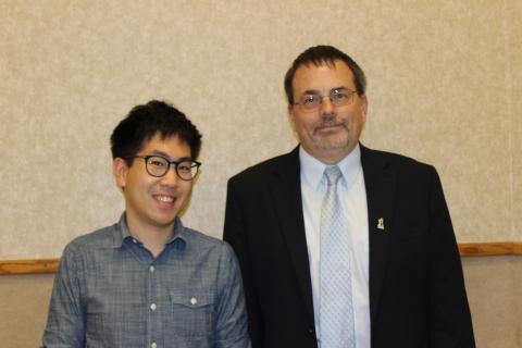Simseok Yuk and Department Head, Dr. Eric Munson