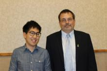 Simseok Yuk and Department Head, Dr. Eric Munson