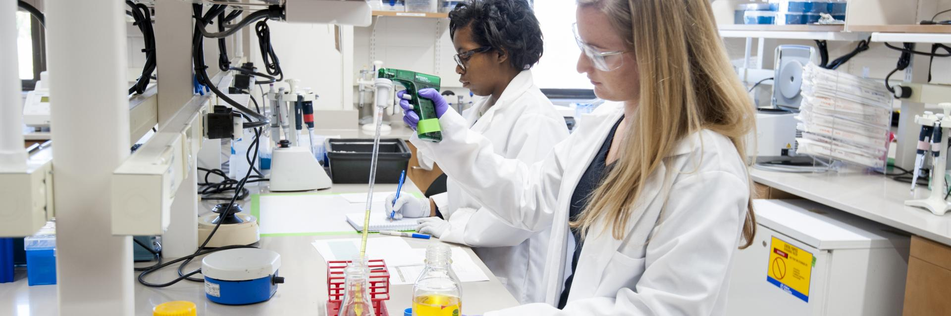 Photo of students in lab